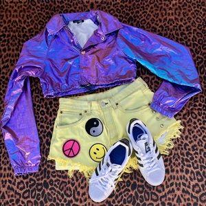 FashionNova iridescent cropped- jacket